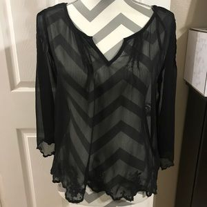 Jessica Simpson Tops - Beautiful sheer blouse by Jessica Simpson